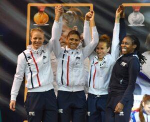 Magnifique 2ème place pour Ysaora et ses co-équipière de l'équipe de France