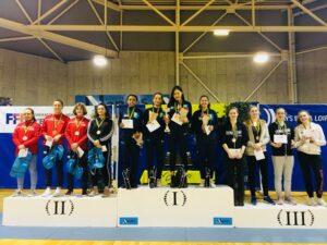 Lisa, Mathilde, Olivia et Élise remportent la 1/2 finale des championnats de France par équipe M17