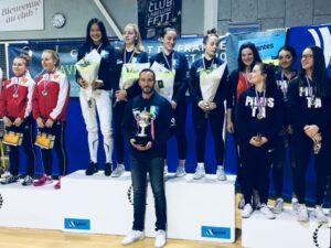 Les filles remportent le titre de championne de france par équipe