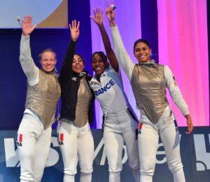 Nouvelle médaille de bronze pour Ysaora et ses co-équipières de l'équipe de France