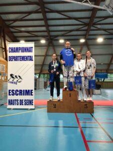 Ilona médaillée d'argent aux championnats des Hauts-de-Seine