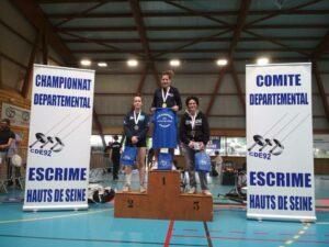 Emma médaillée d'argent aux championnats des Hauts-de-Seine