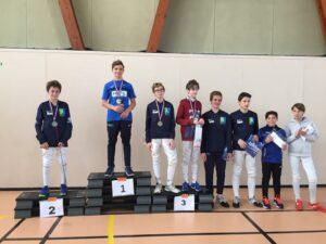 Antonin remporte le championnat de Ligue devant Alban et Kirill