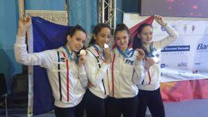 Belle médaille d'argent pour Lisa et ses camarades de l'équipe de France