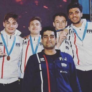 Belle médaille de bronze pour Rafael et ses coéquipiers de l'équipe de France