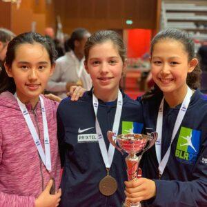Médaille de bronze pour Mina, Clara et Candice
