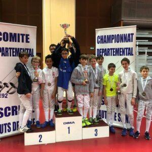 Clément, Ronan et Elie remportent le championnat par équipe