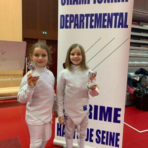 Médaille de bronze pour Manon et Noélie