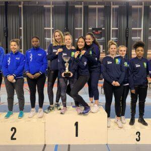 Alice, Emma, Olivia et Mathilde remportent le championnat IDF par équipe