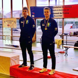 Rafael et Aymeric en bronze