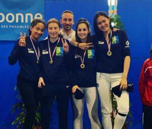 Les filles remportent le titre de championne de France 2019