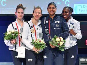 Médaille d'argent pour Ysaora et ses coéquipières de l'équipe de France