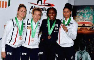 Médaille de bronze pour Ysaora et ses coéquipières de l'équipe de France