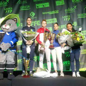 Martina et Chloé sur la 2ème et 3ème marche du podium