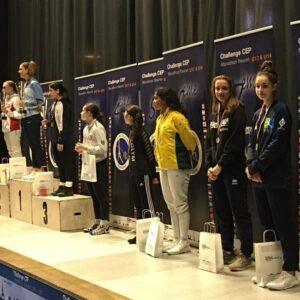 Belle 8ème place d'Ilona au Marathon Fleuret 2020