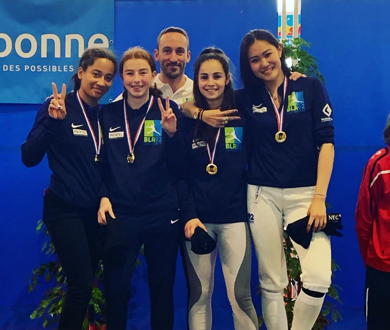 Les filles remporte le titre de championne de France 2019