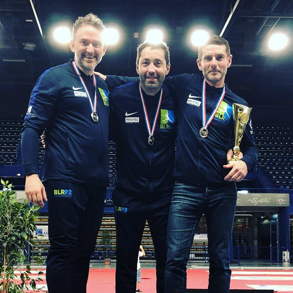 Hervé, Cyril et Vincent vice-champions de France par équipe vétéran